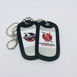 Foam Dart Thunder Terminal Infection Dog Tags