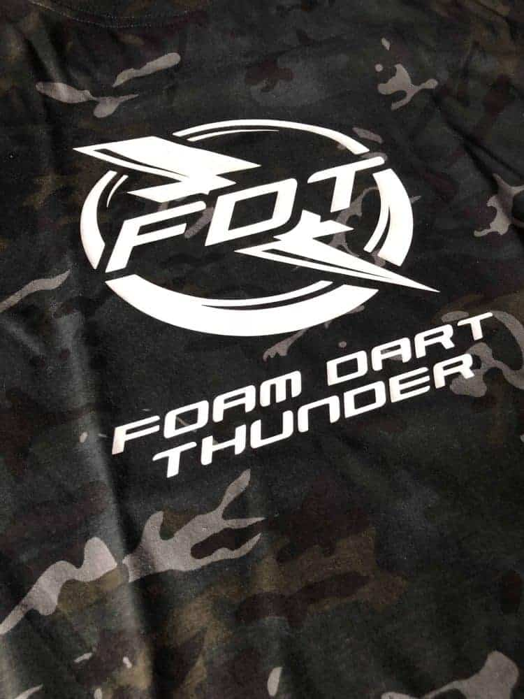 Foam Dart Thunder camo t shirt
