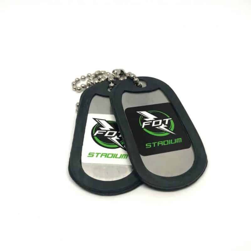 Foam Dart Stadium Dog Tags